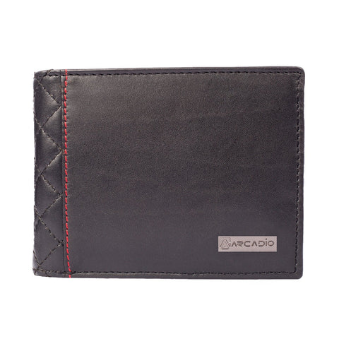 Black Color Pure Leather Men's Wallet - ARW1001BK