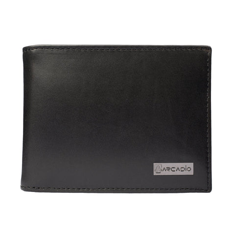 Black Color Pure Leather Men's Wallet - ARW1002BK