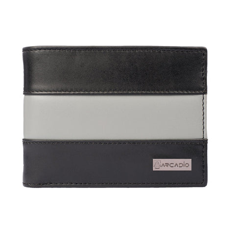 Black Color Pure Leather Men's Wallet - ARW1004BK