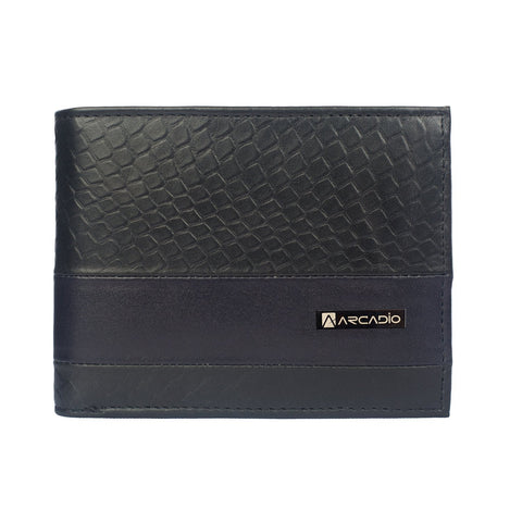 Black Color Pure Leather Men's Wallet - ARW1005BK