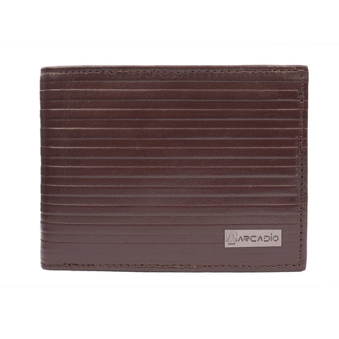 Brown  Color Pure Leather Men's Wallet - ARW1006BR
