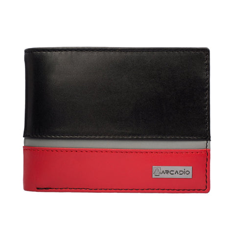 Multi Color Pure Leather Men's Wallet - ARW1008MT
