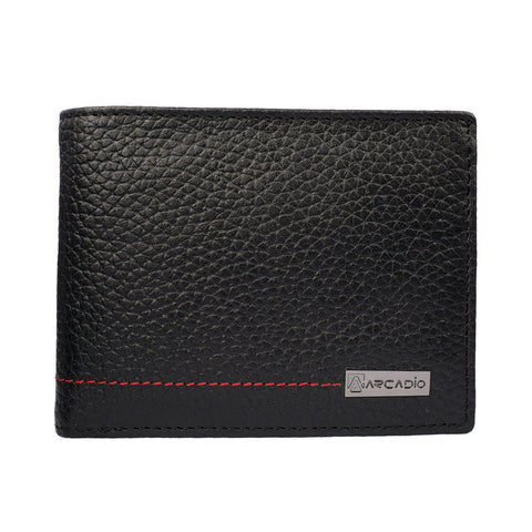 Black Color Pure Leather Men's Wallet - ARW1009BK