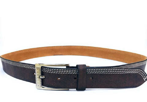 Brown Color Genuine Leather Men Belt - ASFB001