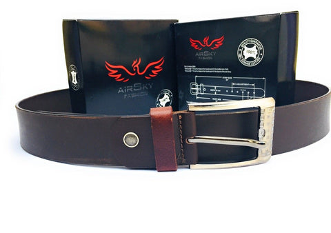 Brown Color Genuine Leather Men Belt - ASFB003