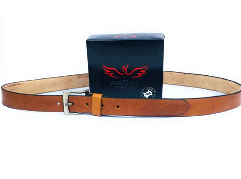 Brown Color Genuine Leather Men Belt - ASFB008