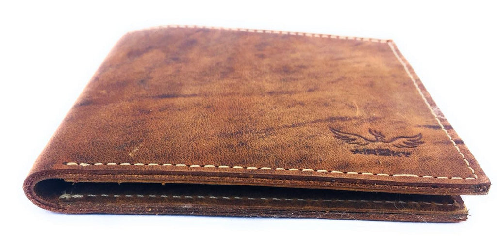 Brown Color Genuine Leather Wallet - ASFW009