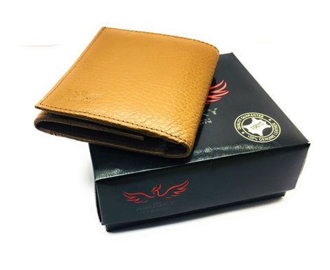 Brown Color Genuine Leather Wallet - ASFW010