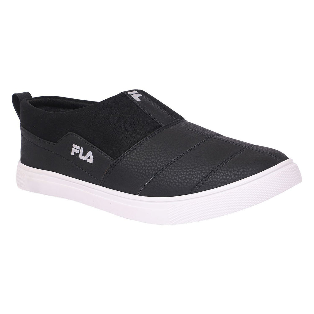 Buy Black Color Polyester Casual Shoes
