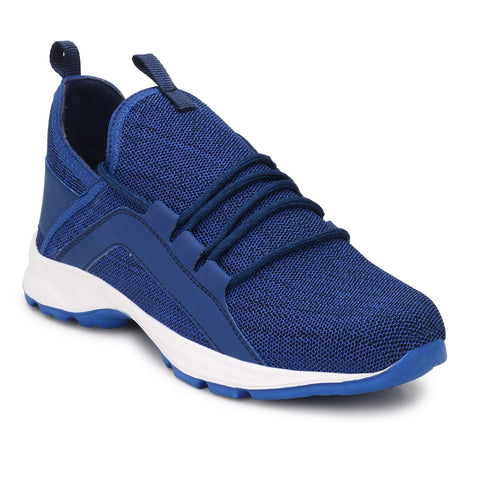 Blue Color Polyester Sports and casual Shoes  - ASP02B