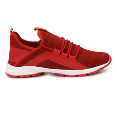 Red Color Polyester Sports and casual Shoes  - ASP02R