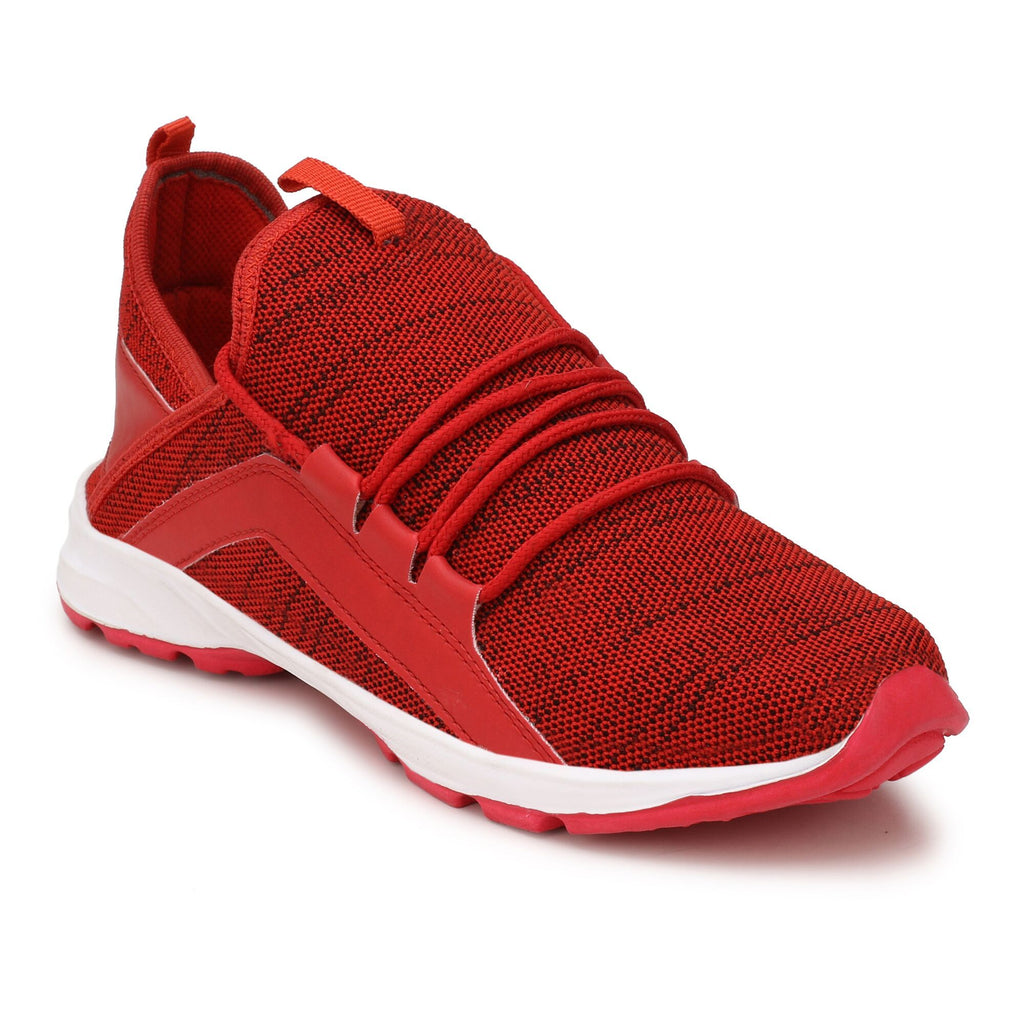 Buy Red Color Polyester Sports and casual Shoes