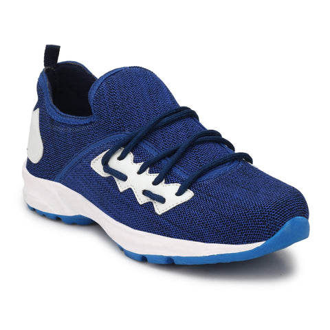 Blue Color Polyester Sports and casual Shoes  - ASP03B