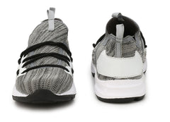 Grey Color Polyester Sports and casual Shoes  - ASP03G