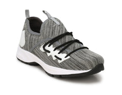 Buy Grey Color Polyester Sports and casual Shoes
