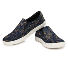 Blue Color Fabric Casual Shoes  - ASP11B