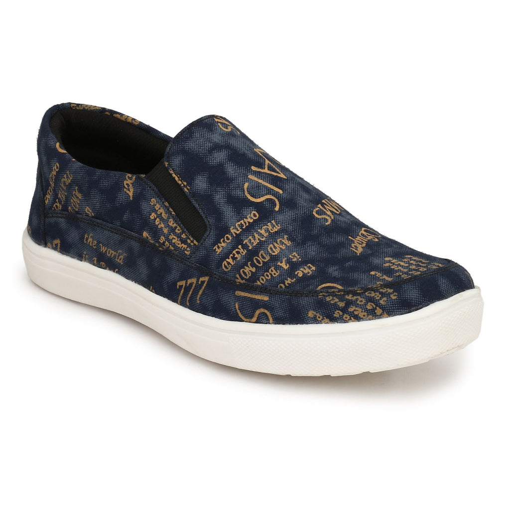 Buy Blue Color Fabric Casual Shoes