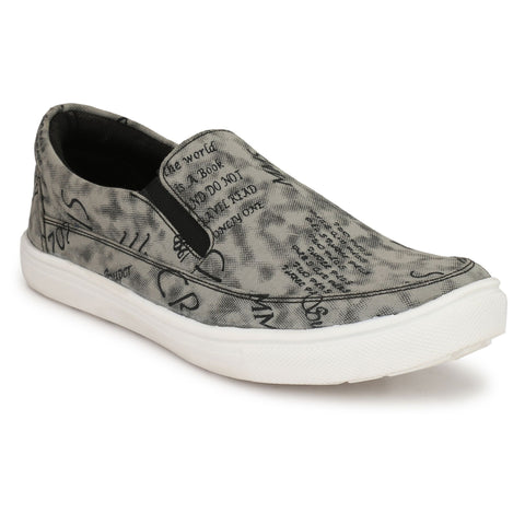 Grey Color Fabric Casual Shoes  - ASP11G