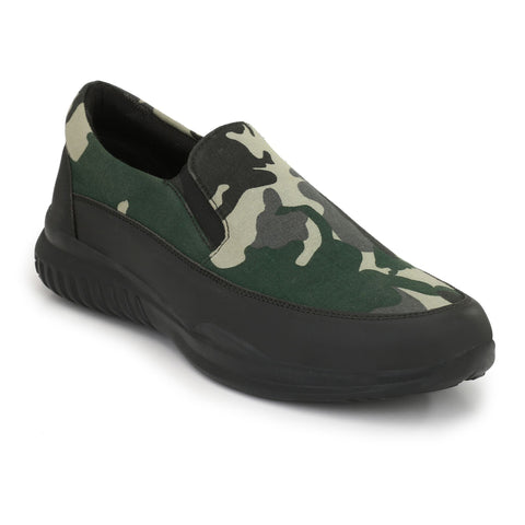 Green Color Fabric Casual Shoes  - ASP14G