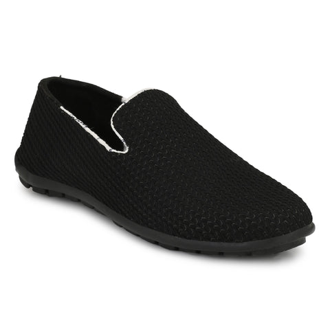 Black Color Mesh Casual Shoes  - ASP16BL