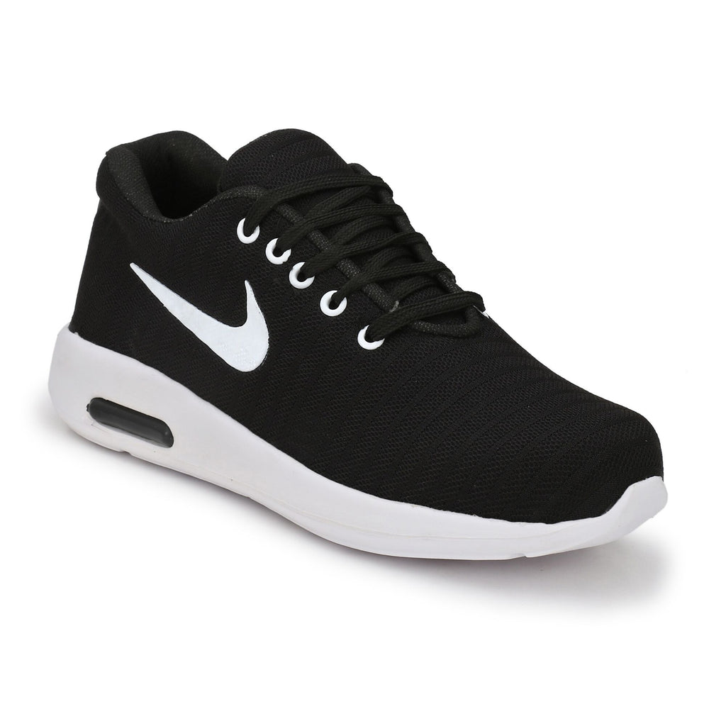Buy Black Color Polyester Sports and casual Shoes