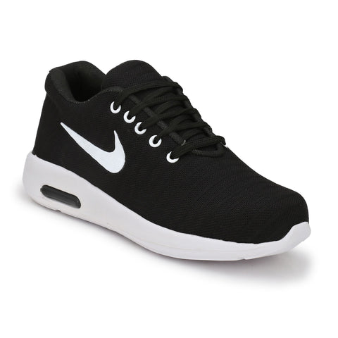 Black Color Polyester Sports and casual Shoes  - ASP25BL