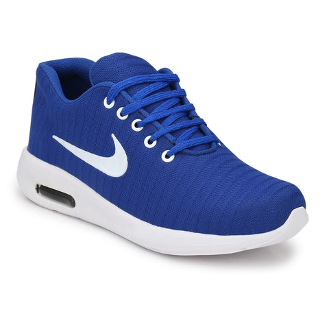 Blue Color Polyester Sports and casual Shoes  - ASP25B