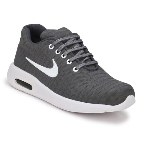 Grey Color Polyester Sports and casual Shoes  - ASP25G