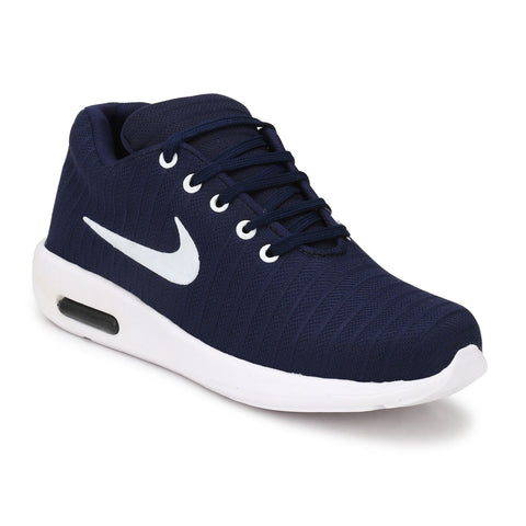 Navy Color Polyester Sports and casual Shoes  - ASP25N