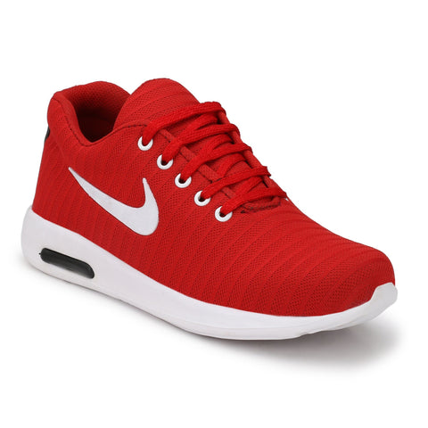 Red Color Polyester Sports and casual Shoes  - ASP25R