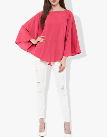 Pink Color Poly Crepe Top - ATSS17Q2TO104