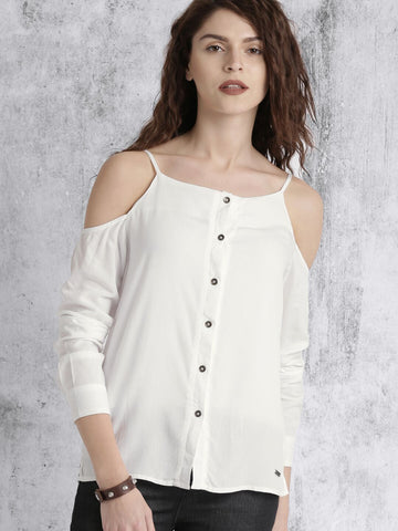 White Color PolyCrepe Top - ATSS17Q2TO24