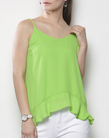 Green Color PolyCrepe Top - ATSS17Q2TO41