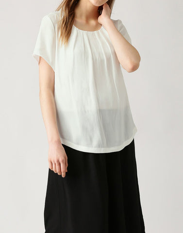 White Color PolyCrepe Top - ATSS17Q2TO46