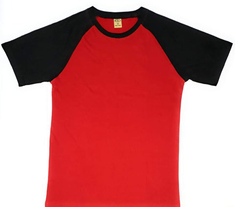 Red Color Cotton Men's Tshirt - AV-2