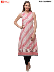 Red Color Flex Cotton Stitched Kurti