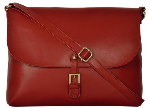 Maroon Color PU Women Hand Bag - AWBC2MN