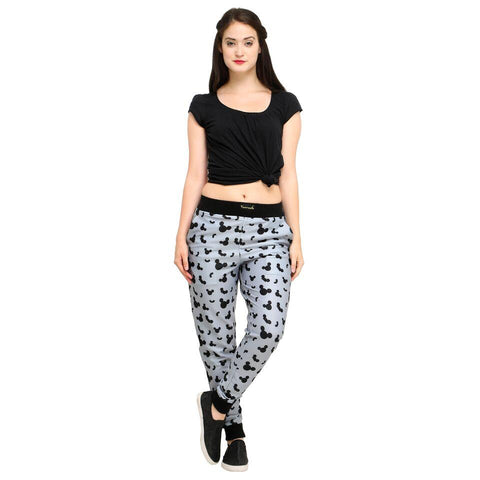 Multi Color Cotton And Polyster Women's Jogger Pants - AY-358WmnMickeyEar