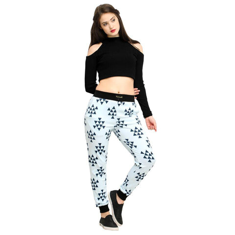 Multi Color Cotton And Polyster Women's Jogger Pants - AY-371WmnTriangleBox
