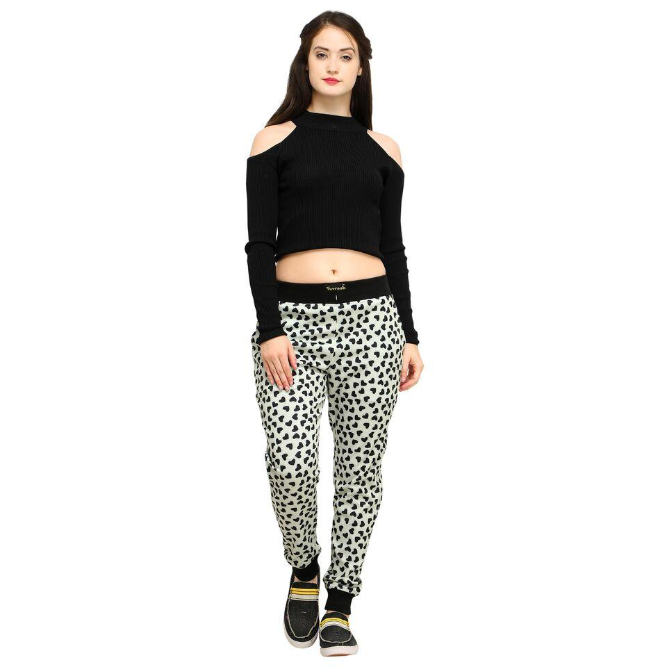 2b6b5ea883 Buy Multi Color Cotton And Polyster Women s Jogger Pants ...