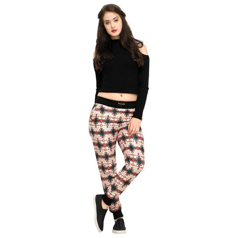 Multi Color Cotton And Polyster Women's Jogger Pants - AY-376WmnPeachBandhani