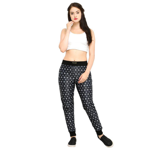 Multi Color Cotton And Polyster Women's Jogger Pants - AY-390WmnDangerMickey