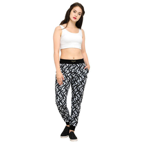 Multi Color Cotton And Polyster Women's Jogger Pants - AY-393WmnHScratchy