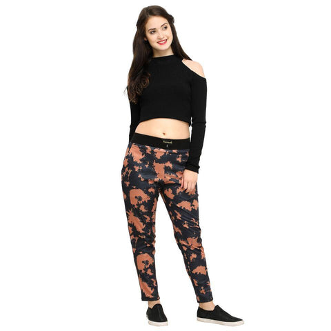 Multi Color Cotton And Polyster Women's Jogger Pants - AY-400WmnNewColorBlast