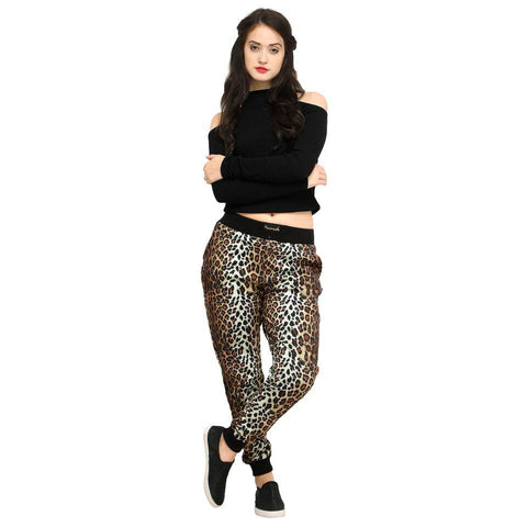 Multi Color Cotton And Polyster Women's Jogger Pants - AY-401WmnNewLeopard
