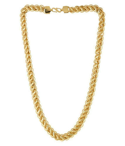 Golden Color Alloy Chain - Aangi-Chain