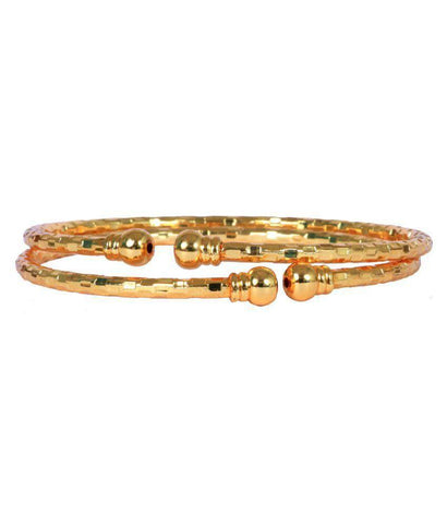 Golden Color Alloy Bangles - Aangi-ban10