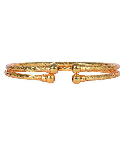 Golden Color Alloy Bangles - Aangi-ban11
