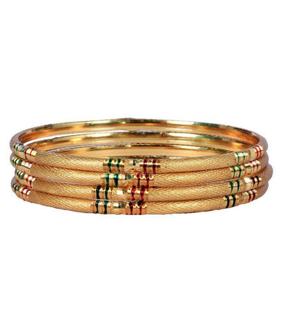 Golden Color Alloy Bangles - Aangi-ban12