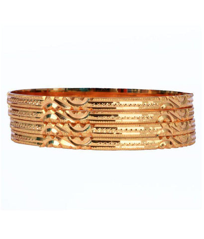 Golden Color Alloy Bangles - Aangi-ban15